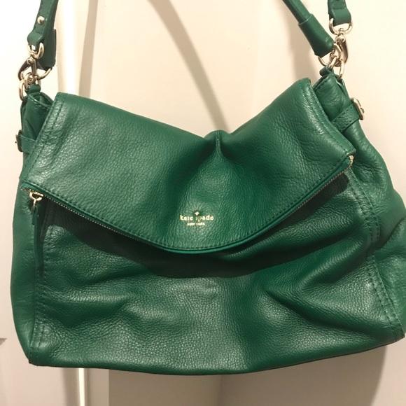 kate spade Handbags - Kate Spade Green Leather Crossbody Satchel